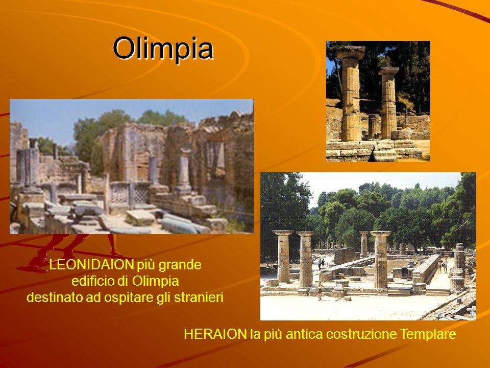 Olimpia Gli atleti che intendevano partecipare ai giochi dovevano allenarsi allinterno del GINNASIO per un mese PALESTRA