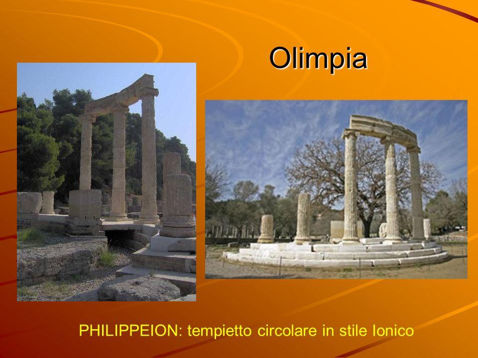 Ricostruzione di Olimpia antica Palestra di Olimpia antica Olimpia