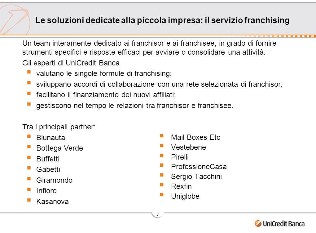 8 Unica banca on line specializzata per le piccole imprese.