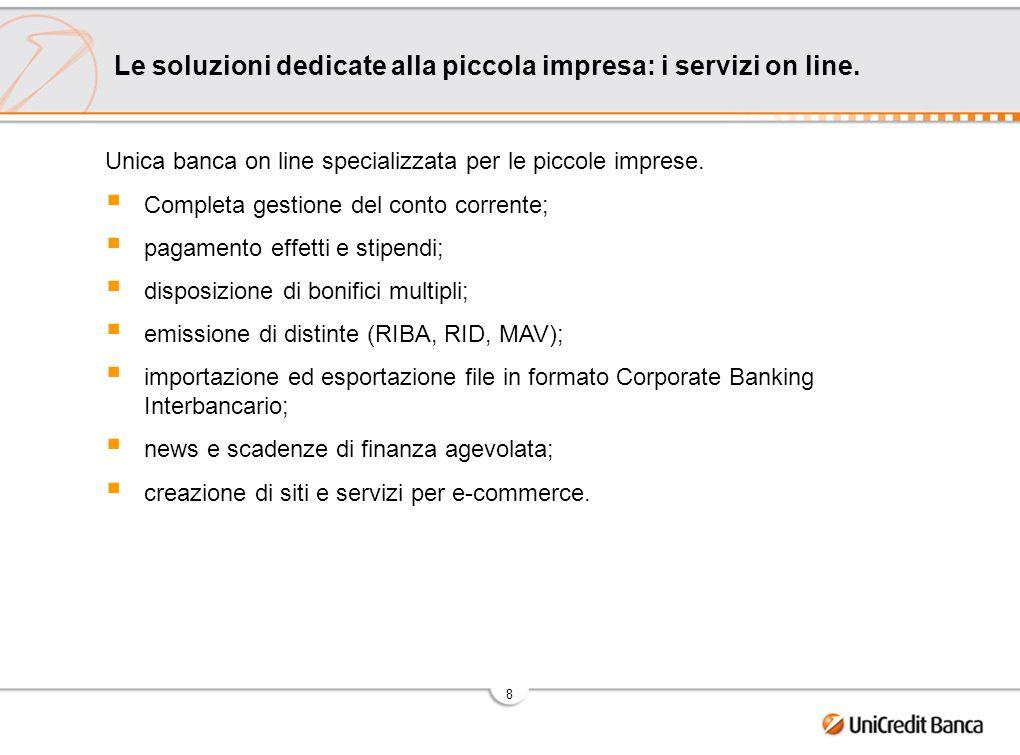 9 Le soluzioni dedicate alla piccola impresa: a sostegno dellinternazionalizzazione delle piccole imprese.