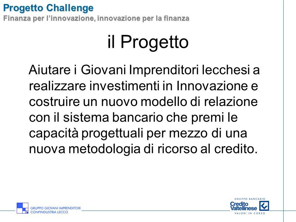 Progetto Challenge Finanza per linnovazione, innovazione per la finanza il Progetto FINANZA PER LINNOVAZIONE INNOVAZIONE NELLA FINANZA