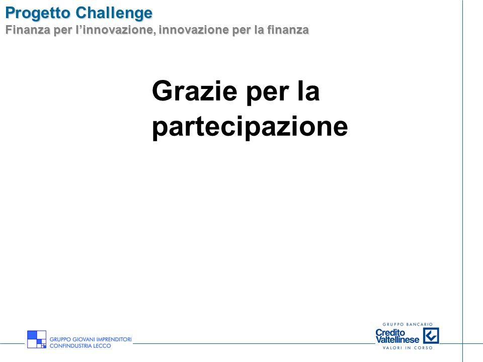Progetto Challenge Finanza per linnovazione, innovazione per la finanza Lecco, 19 luglio 2007