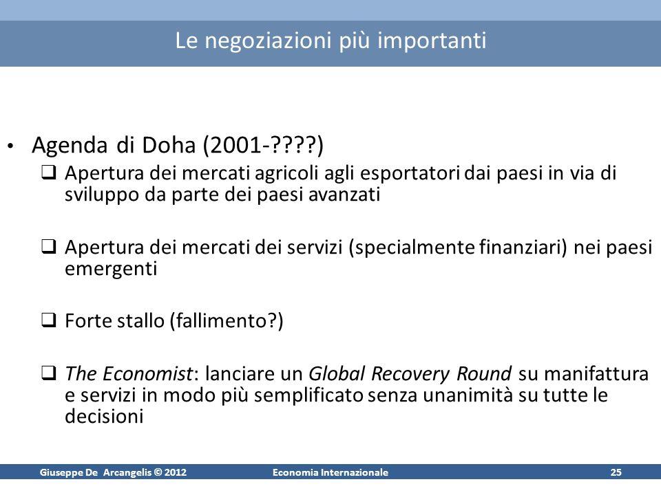 Giuseppe De Arcangelis © 2012Economia Internazionale26 OMC: struttura ogranizzativa
