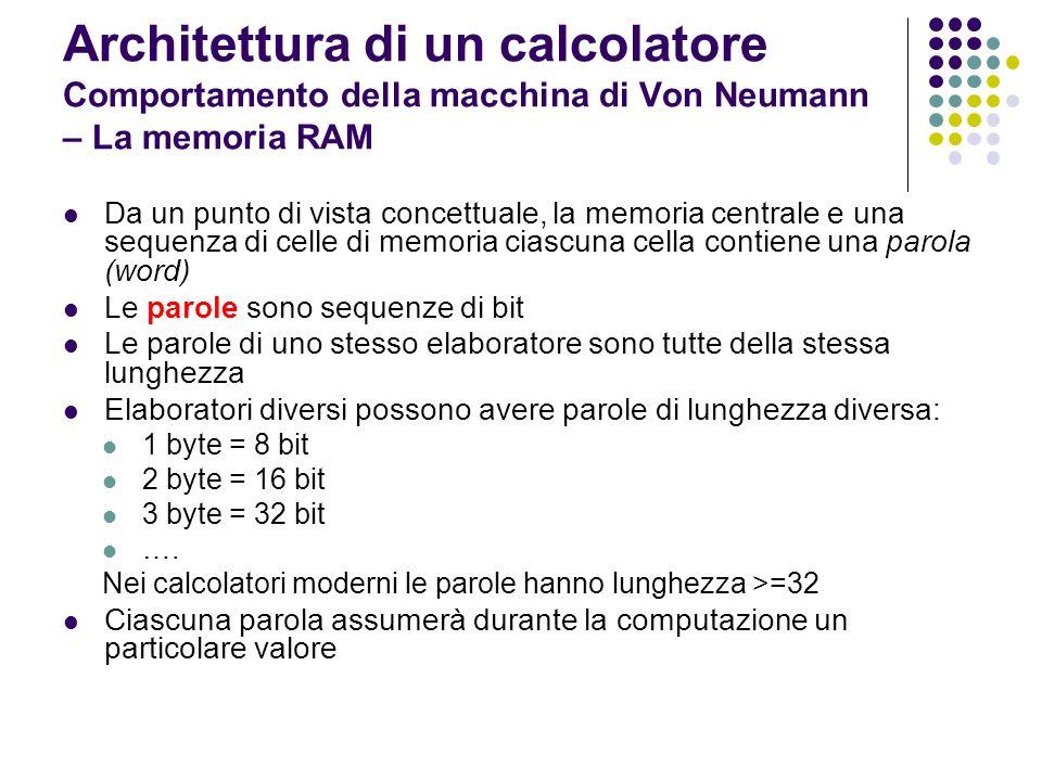 Tecnologicamente le memorie sono realizzate con dispositivi a semiconduttori Una memoria può essere idealizzata come una grossa tabella: righe celle colonne (in numero pari alla lunghezza di parola) individuano ciascun bit di memoria.