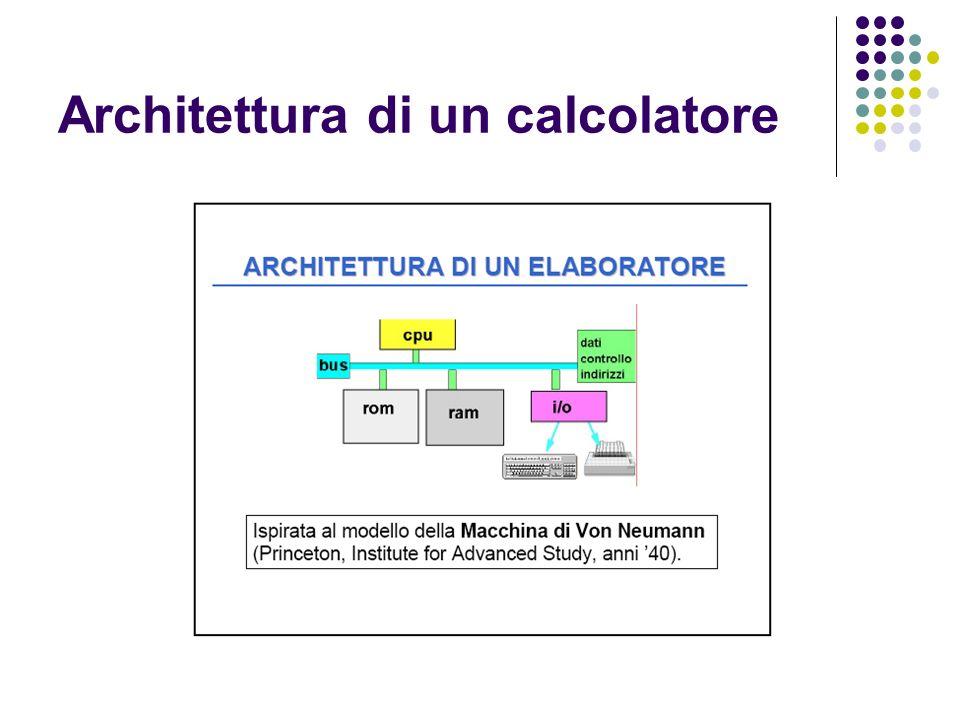 In un calcolatore i dati e le istruzioni di un programma sono codificate in forma binaria, ossia in una sequenza finita di 1 e di 0.
