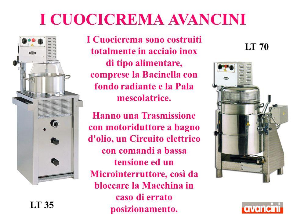 Il Bruciatore di cui sono dotati è completo di valvola ed accensione piezoelettrica Essi risultano ottimi Macchinari per la cottura di Creme, Risotti, Besciamelle e Ragù.