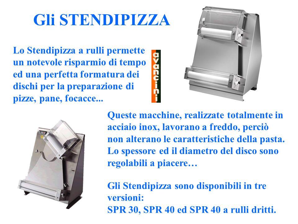 Le FORMATRICI Le Formatrici sono presse speciali ideate per lo schiacciamento delle forme di pizza.