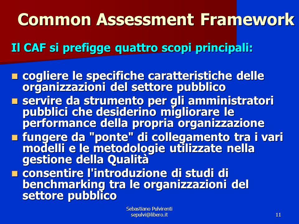 Sebastiano Pulvirenti sepulvi@libero.it 12 La struttura del CAF – I criteri 1.