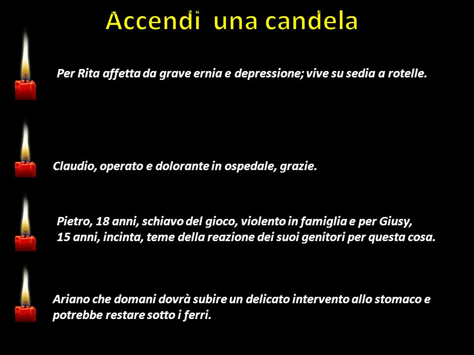 PREGATE PER RITA AFFETTA DA GRAVE ERNIA E DEPRESSIONE; VIVE SU SEDIA A ROTELLE.