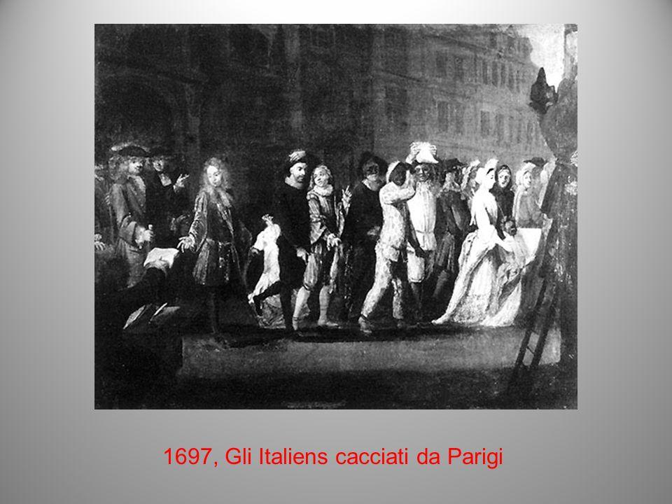Il ritorno degli Italiani dopo il 1716 Le Nouveau Théâtre Italien (il nuovo Teatro Italiano) Lamore al Theâtre Italien, 1718, olio su tela di C.