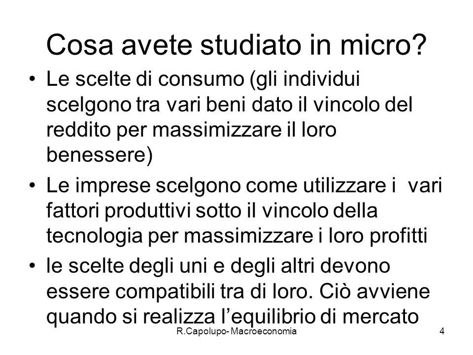 R.Capolupo- Macroeconomia5 Cosa studia la macro.