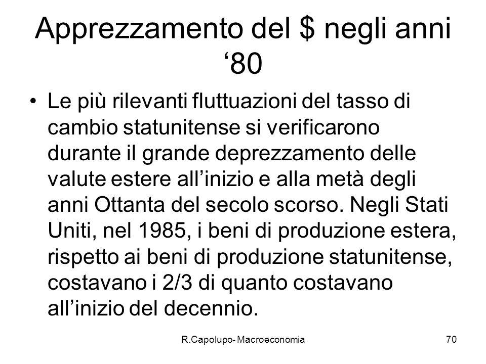 R.Capolupo- Macroeconomia71 La situazione macroeconomica attuale: gli USA Economia in crescita durante gli anni 90.