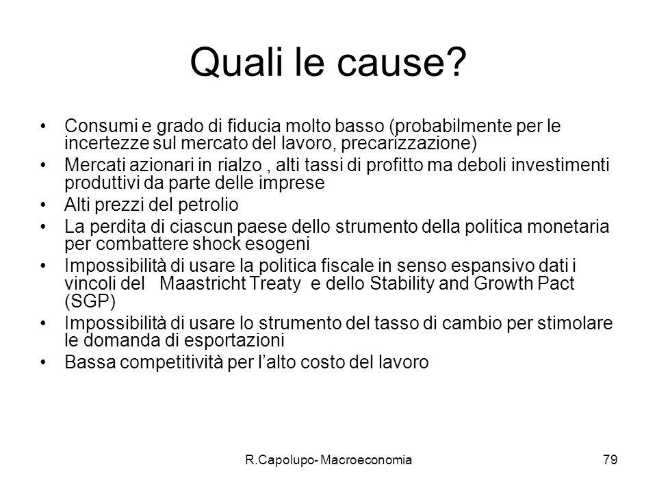 R.Capolupo- Macroeconomia80 Perché le imprese non investono di più.