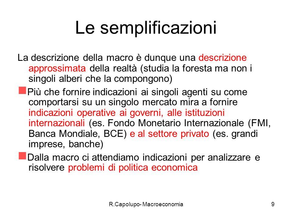 R.Capolupo- Macroeconomia10 Un esempio di modello