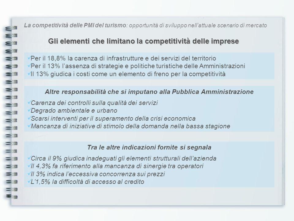 La competitività delle PMI del turismo: opportunità di sviluppo nellattuale scenario di mercato Maggior attenzione al cliente Lorientamento al cliente deve essere sempre un elemento essenziale nelle definizione delle strategie.