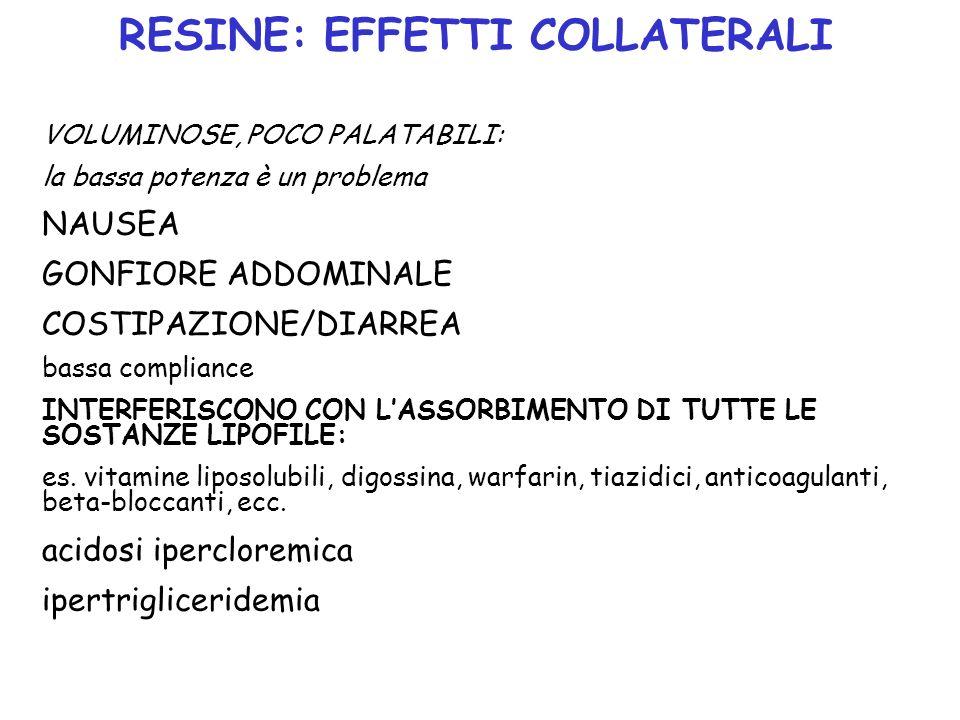 FIBRATI CLOFIBRATO: Non più utilizzato: aumentata incidenza colelitiasi, non diminuzione rischio CAD ******** GEMFIBROZIL, FENOFIBRATO, BEZAFIBRATO, CIPROFIBRATO Riduzione trigliceridi, aumento HDL, effetti variabili su LDL USI: iperlipidemie miste, ipertrigliceridemie