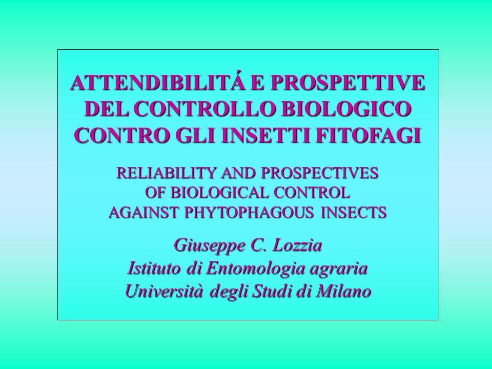 Ausiliari acclimatati in Italia con lanci inoculativi