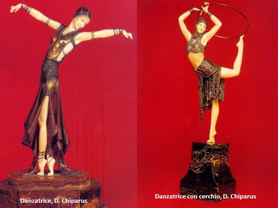 Danzatrice, D. Chiparus Danzatrice con cerchio, D. Chiparus