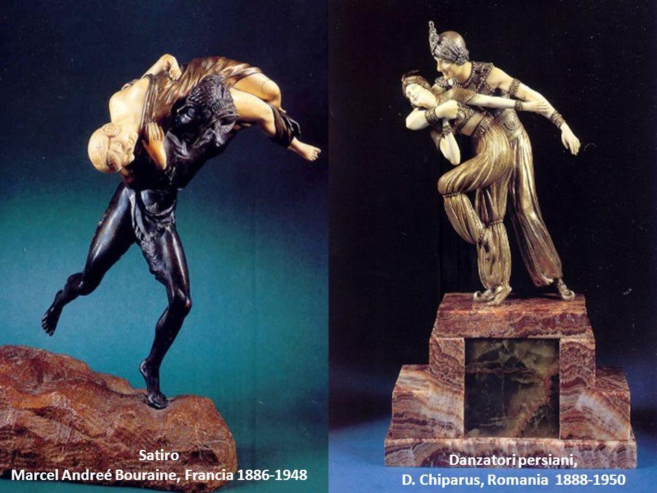 Satiro Marcel Andreé Bouraine, Francia 1886-1948 Danzatori persiani, D. Chiparus, Romania 1888-1950