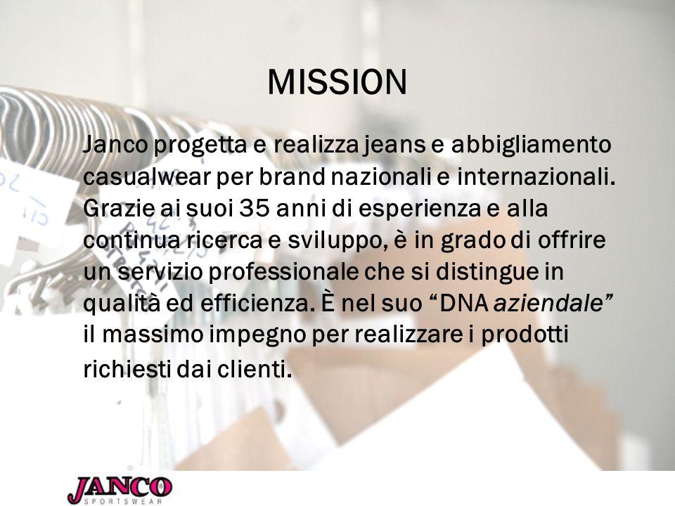 PRODOTTI Janco ha unimmagine legata al jeans, in quanto especializzata nel denim.