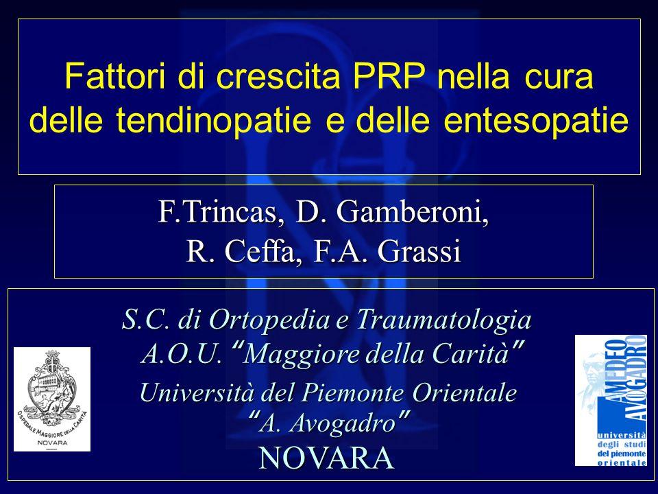CASISTICA Dal 2010: 7 pazienti (9 trattamenti) 5 Epicondiliti ( 3 monolaterali, 1 bilaterale) 1 Epitrocleite 3 Fasciti plantari (1 monolaterale, 1 bilaterale)