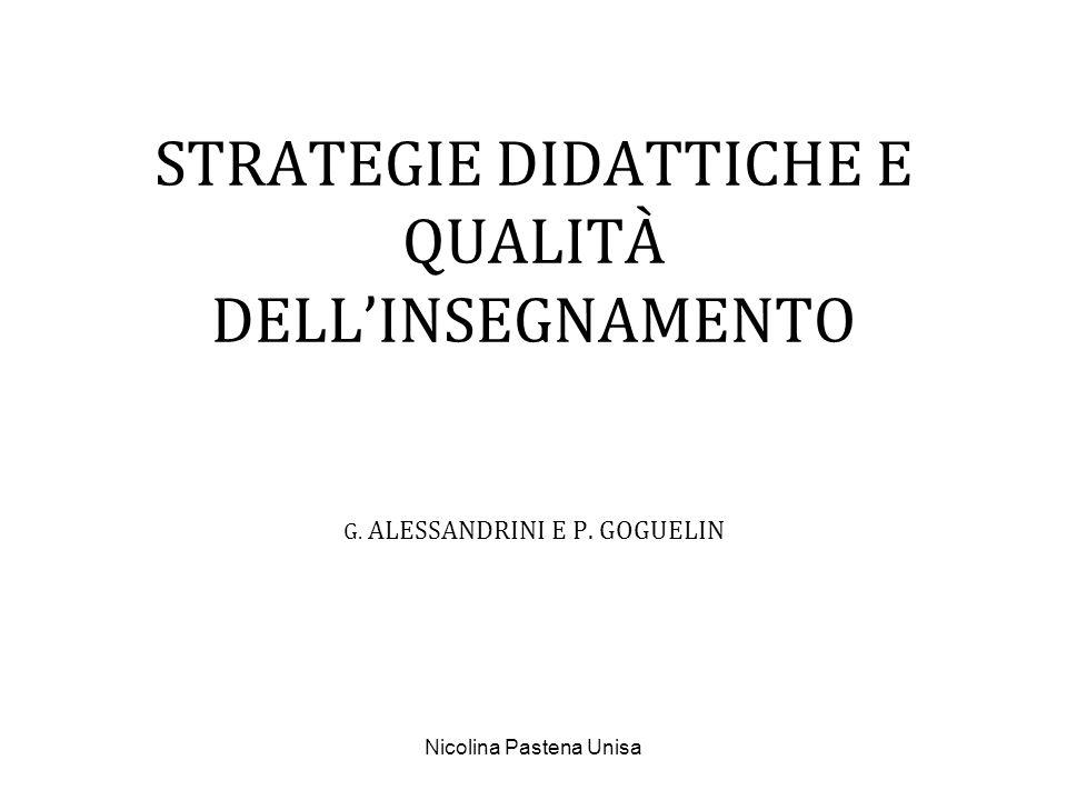 Nicolina Pastena Unisa LA TASSONOMIA DEI METODI DINSEGNAMENTO DI G.