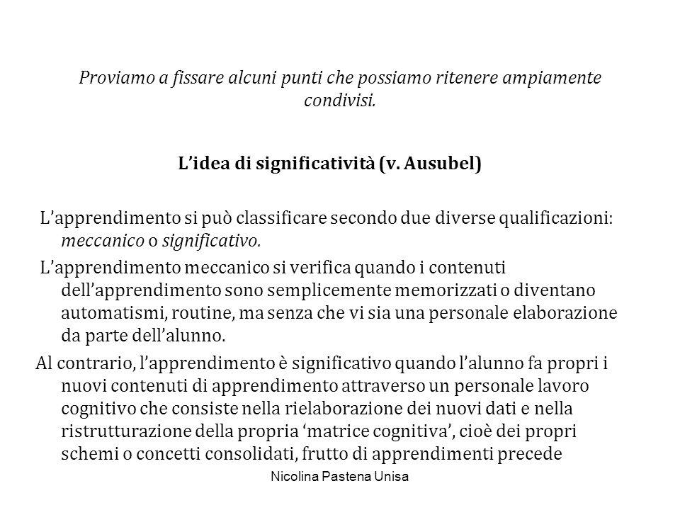 Nicolina Pastena Unisa LIdea di Comunicazione Esaminiamo la seguente definizione: La relazione comunicativa è efficace se vi è >.