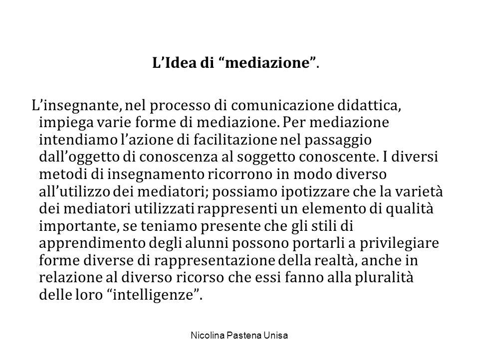 Nicolina Pastena Unisa Quali sono le principali tipologie dei mediatori.