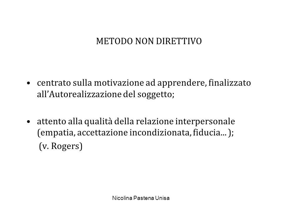 Nicolina Pastena Unisa METODO SKINNERIANO teoria del condizionamento operante (importanza del rinforzo); istruzione programmata, macchine per insegnare...