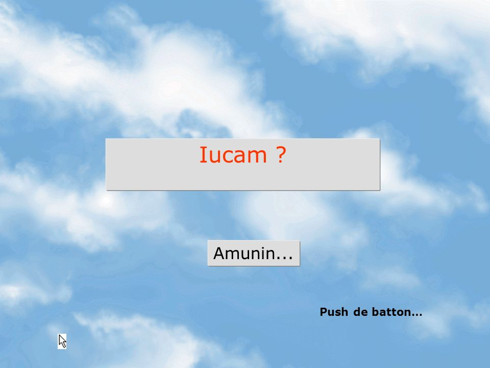 Iucam ? Amunin... Push de batton…