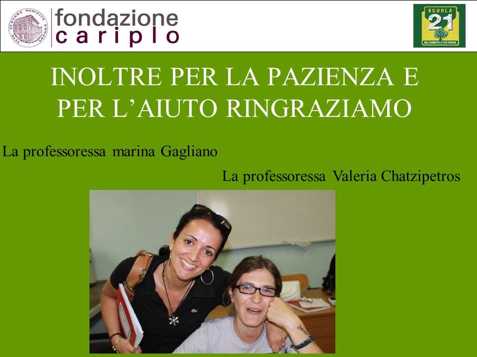 FORSE TUTTO QUESTO E STATO POSSIBILE GRAZIE A LORO La professoressa Rita Di Biase (inglese)
