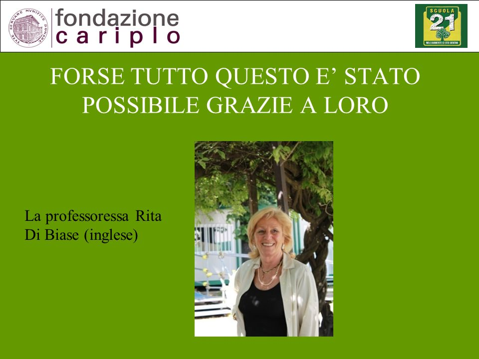La professoressa Silvia Ricci (chimica)