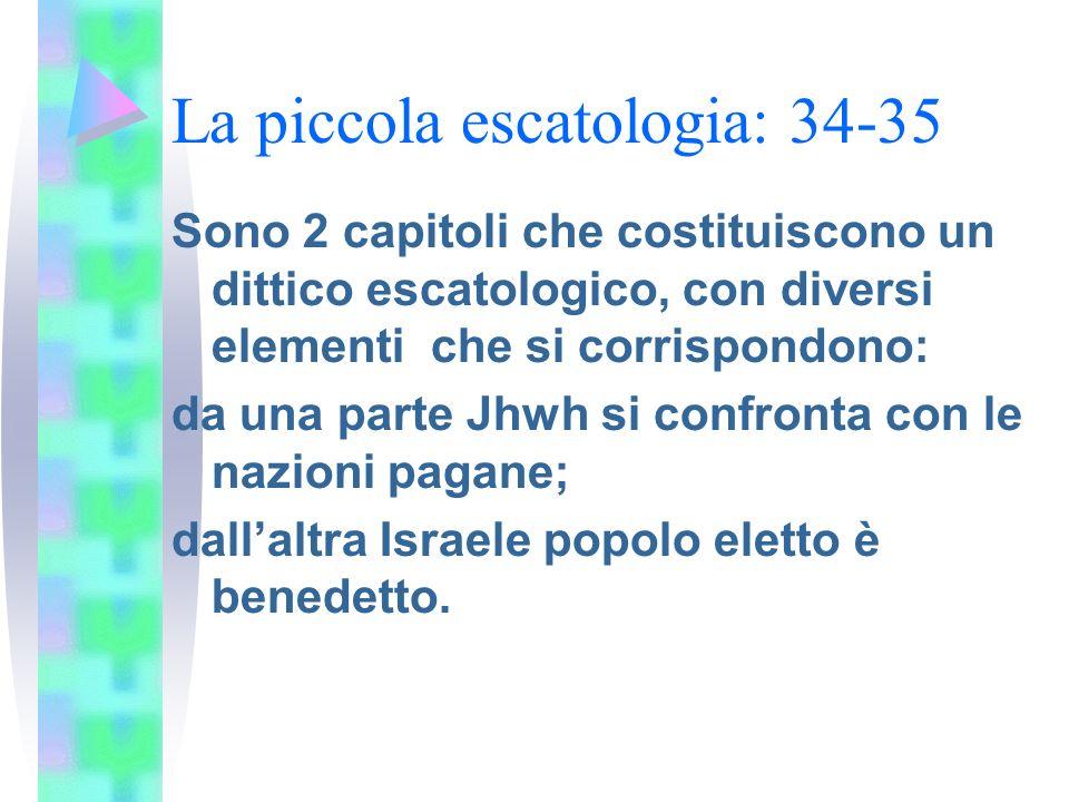 Appendice storica: 36-39 Sono narrati 3 episodi: a) linvasione di Sennacherib (36-37); b) la malattia e la guarigione di Ezechia (38); c) ambasciata del re di babilonia (39)