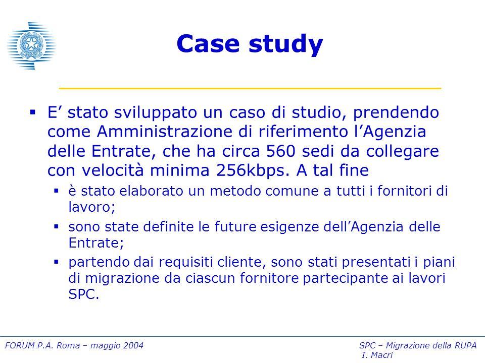 FORUM P.A.Roma – maggio 2004 SPC – Migrazione della RUPA I.