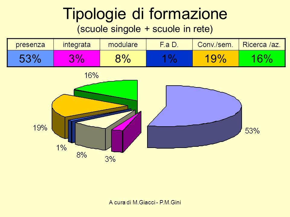 A cura di M.Giacci - P.M.Gini Tipologie di formazione