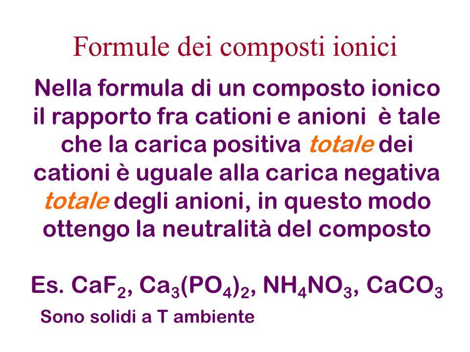Energia di potenziale di interazione E pot = k c N a M (Q A Q B /r) M costante che dipende dal tipo di impacchettamento degli ioni nello spazio, cioè dal reticolo cristallino del composto ionico M sempre maggiore di 1 Energia complessiva di attrazione e repulsione (che è negativa) assumendo ioni mono- e poliatomici come sfere rigide cariche uniformemente sulla loro superficie (ossia cariche puntiformi) :