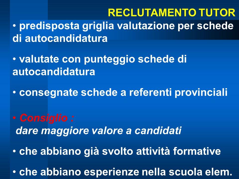 Bergamo5 Brescia6 Como2 Cremona2 Lecco3 Lodi2 Milano32 Mantova3 Pavia4 Sondrio3 Varese3 TUTOR in formazione: tot.