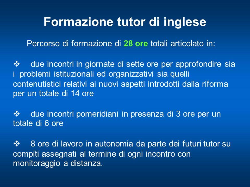 Formazione dei tutor: obiettivi generali 1.