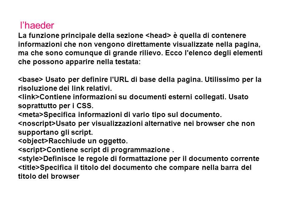 I meta tag description che permette di impostare una descrizione sintetica del sito stesso.