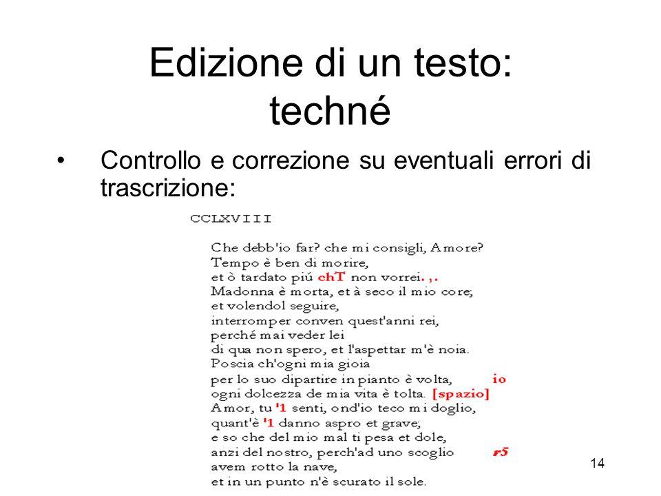 CRILet di Giuseppe Gigliozzi - Centro Ricerche Informatica e Letteratura 15 Altri esempi di errori di riconoscimento
