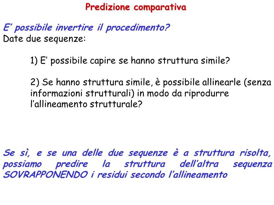 Fold Recognition: è possibile capire se due proteine hanno struttura simile.