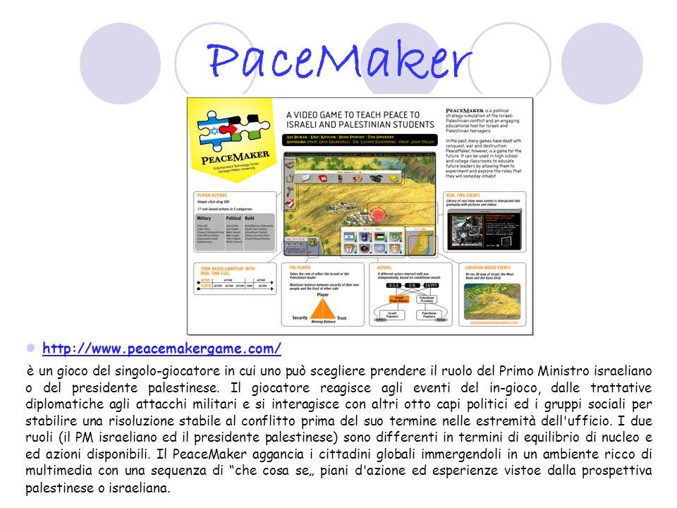 Global Conflicts: Palestine http://www.seriousgames.dk/gc.html Il Medio Oriente è lontano.