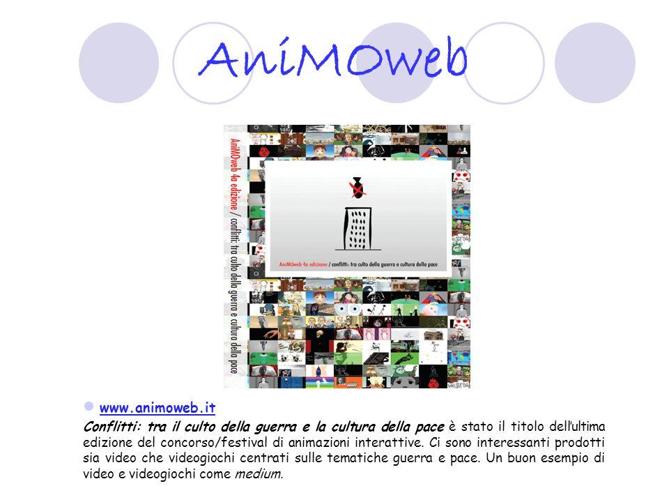 Videogiochi e attivismo sociale http://www.molleindustria.org/home.php Sito di inventori di videogiochi che utilizzano i videogiochi esclusivamente come nuova medi interattivi per promuovere denunce sociali, riflettere sui meccanismi della globalizzazione, creando una sorta di media activism.