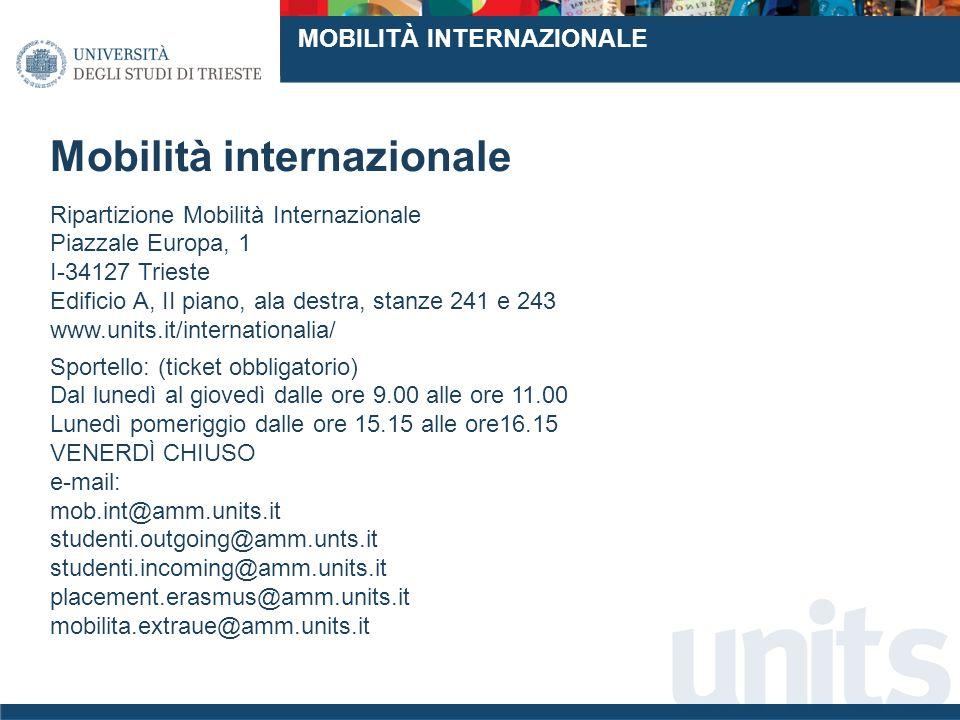 www..it MOBILITÀ INTERNAZIONALE