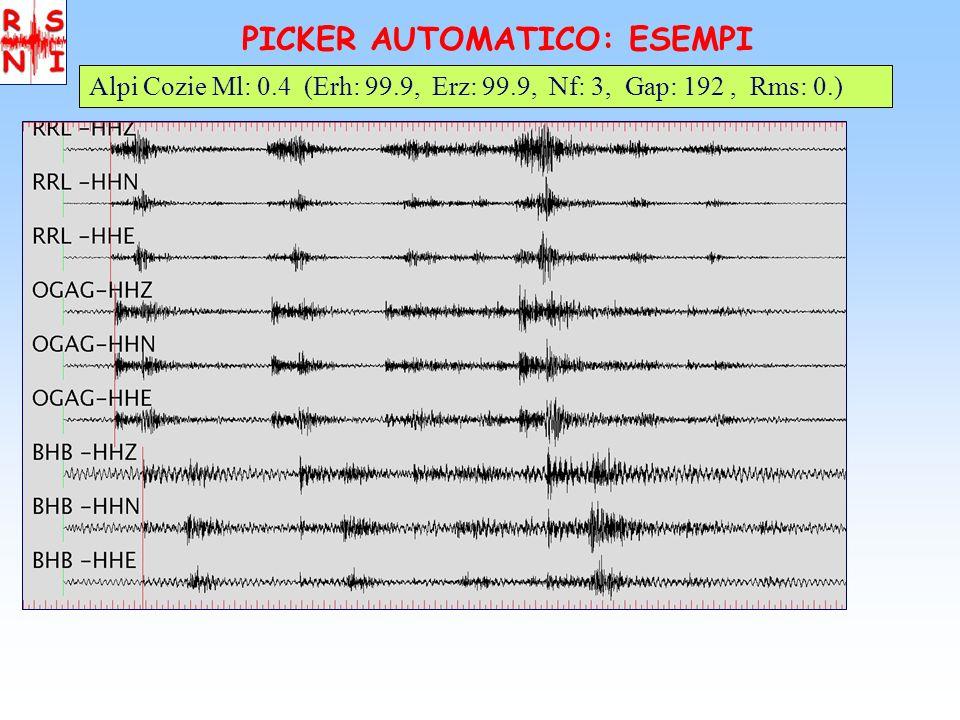 PICKER AUTOMATICO: ESEMPI Cuneese Ml: 1.4 (Erh: 4.8, Erz: 6.9, Nf: 13, Gap: 126, Rms: 0.41)