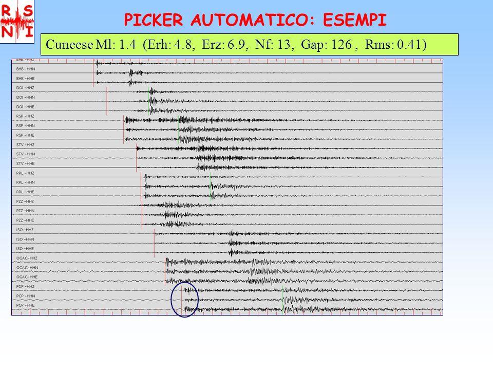 PICKER AUTOMATICO: Statistica Eventi_Auto: Ml > 0, Erh < 10, Erz < 10, Gap < 180 Confronto Localizzazioni