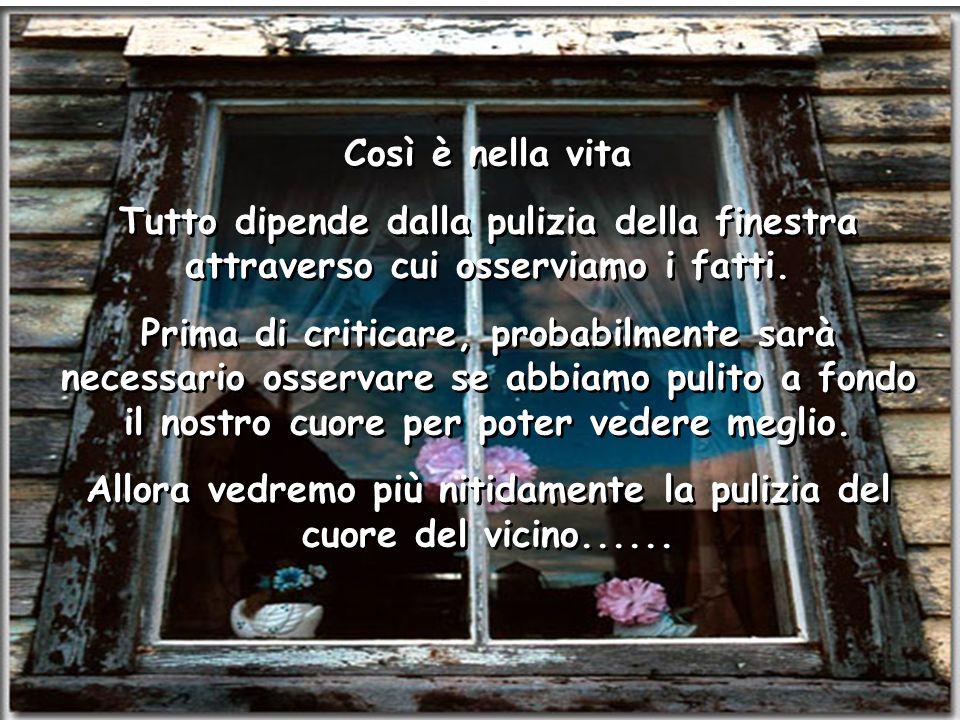 Ria Slides Così è nella vita Tutto dipende dalla pulizia della finestra attraverso cui osserviamo i fatti.