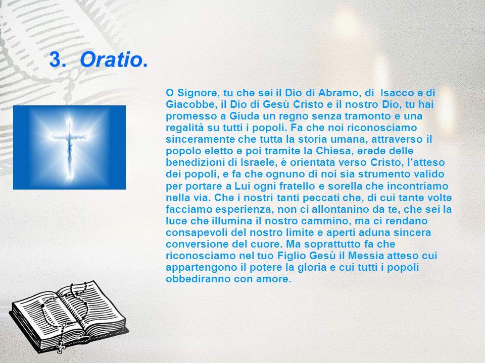 3. Oratio.