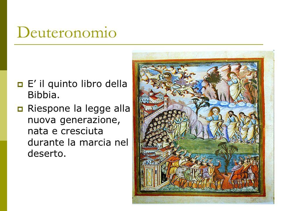 Deuteronomio E' il quinto libro della Bibbia.