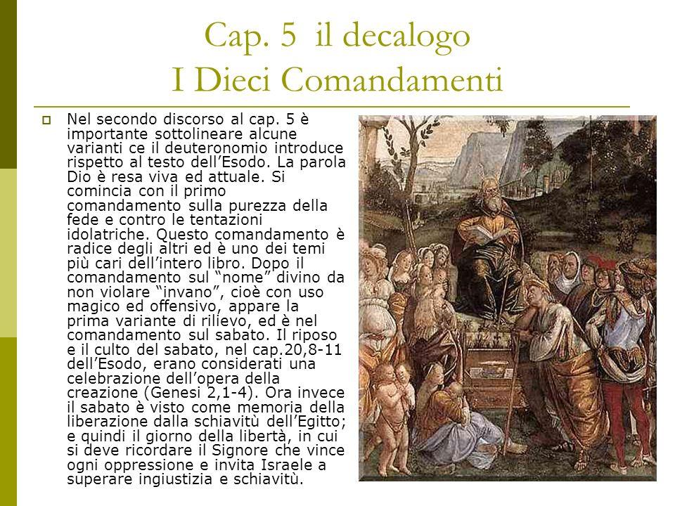Cap. 5 il decalogo I Dieci Comandamenti